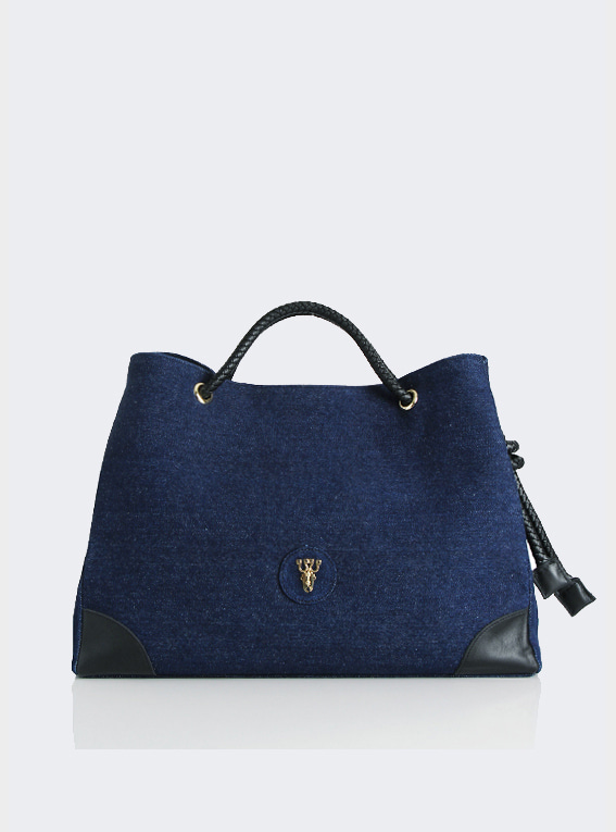 Rope shoulder bag - Dark Blue(L)