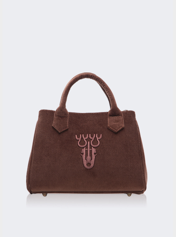 V Fan.C bag -Brown