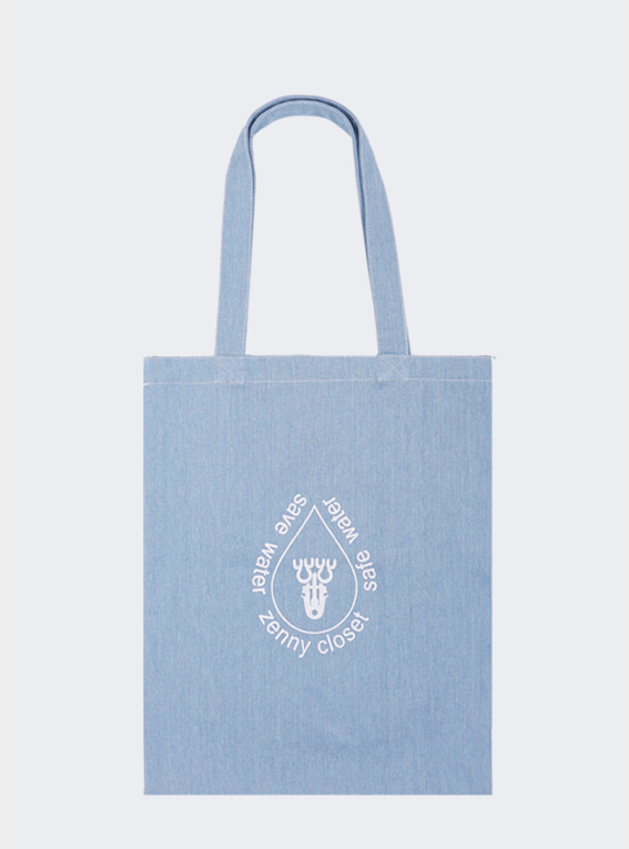 Save Water Ecobag (:세이브워터 에코백) - Blue